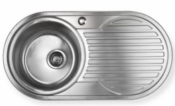 Edelstahl Waschbecken edelstahl waschbecken spüle links einbauspüle küchenspüle oval